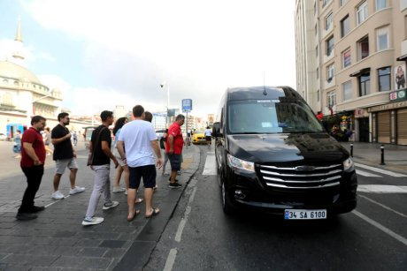 Bus-and-Boat-Istanbul-the-Bus-at-Taksim - 7
